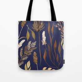 Fall Foliage on Navy Tote Bag