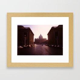 St Peter's, Rome. Framed Art Print