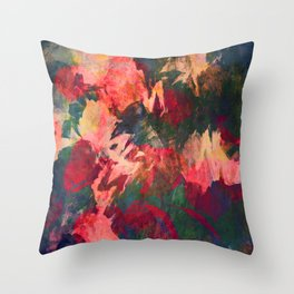 It's Complicated, Abstract Leaves Throw Pillow