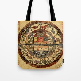 Vintage Constellation Chart 1549 Tote Bag