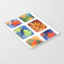 Colorful Summer Leaves Notebook