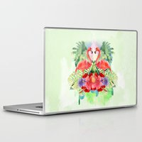 flamingo Laptop & iPad Skins featuring Flamingo by Kangarui by Rui Stalph