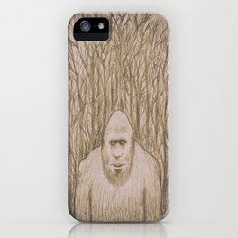 Sasquatch in the woods iPhone Case