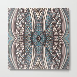 Art hand drawn print in zentagle style Metal Print