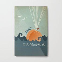 James & the Giant Peach Metal Print