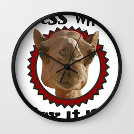Hump Day Camel - Guess What Day it Is - Wednesday is Hump Day - Parody Camel Wall Clock