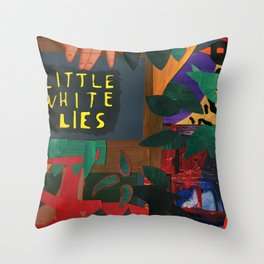 Little White Lies Throw Pillow