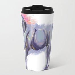 Digital Pastel Colorful Southwestern Galloping Horse Travel Mug