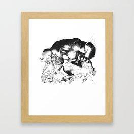 Guts & Griffith vs Zodd Framed Art Print