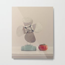 Persimmon and a Fan Metal Print