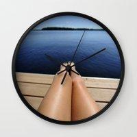 legs Wall Clocks featuring Legs by DanaRussel