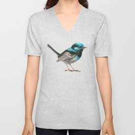 Fairy wren bird Unisex V-Neck