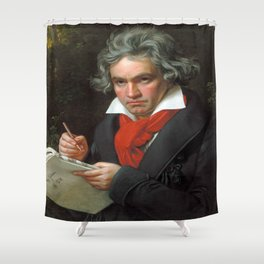 Joseph Karl Stieler - Portrait of Beethoven Shower Curtain
