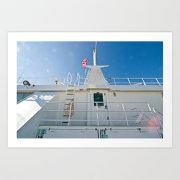 on a boat (one) Art Print