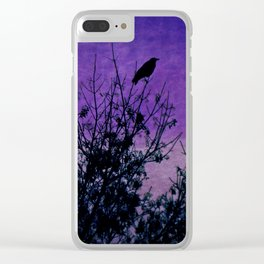 Raven Sentinel Clear iPhone Case