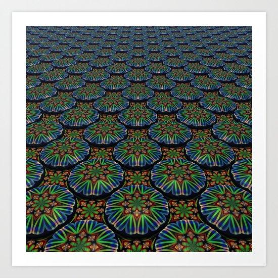 Kaleidoscope Pattern Art Print