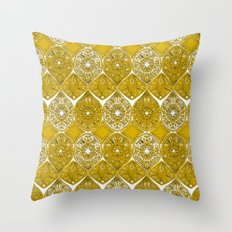 saffreya ochre Throw Pillow