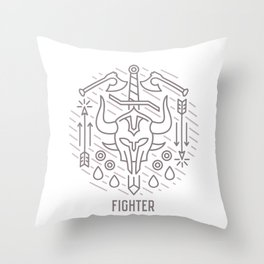 Fighter Emblem Throw Pillow