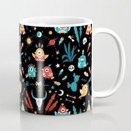 Strange Bird Pattern Coffee Mug