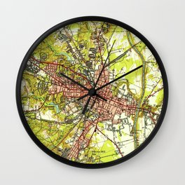 Vintage Map of Fayetteville North Carolina (1948) Wall Clock