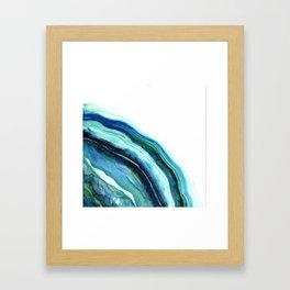 River Agate Moon  Framed Art Print