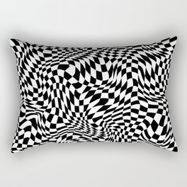 TIME MOVES SLOWLY (warped geometric pattern) Rectangular Pillow