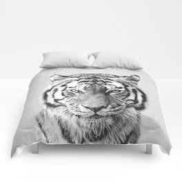 Tiger - Black & White Comforters