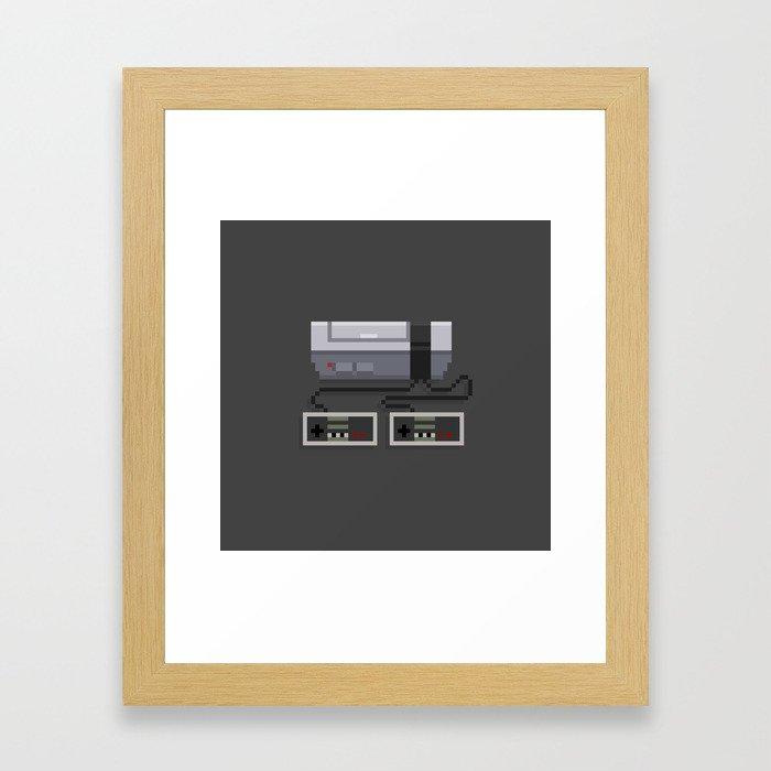 NES 8-Bit Console Framed Art Print