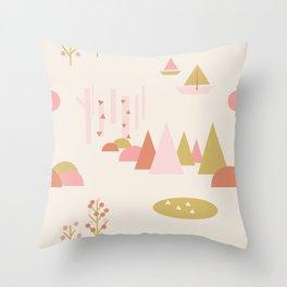Scandinavian Summer Land 1 Throw Pillow