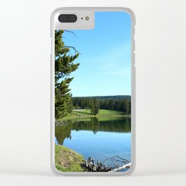 Peaceful Morning At Yellowstone River Clear iPhone Case