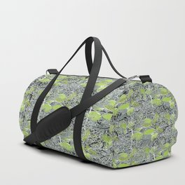 Leaves with black and white outlines and branches Duffle Bag