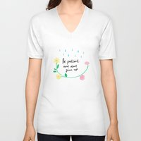motivational V-neck T-shirts featuring Motivational thoughts by Saskdraws