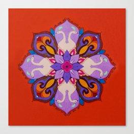 מנדלה אהבה - Love mandala Canvas Print