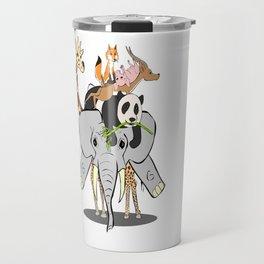 Animal Pile-Up Travel Mug