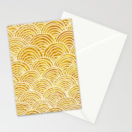 Organge, white and yellow scales Stationery Cards