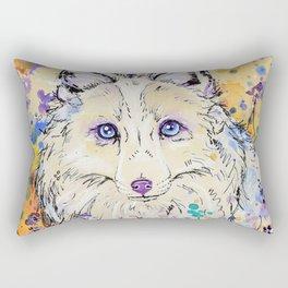 Frost - Watercolor fox painting Rectangular Pillow