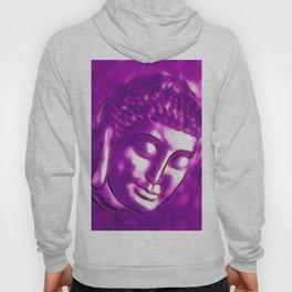 Pink Purple Buddha Art Portrait Hoody