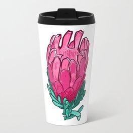 Beautiful Pink Protea Illustration Travel Mug