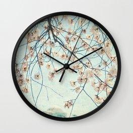 vintage DC Blosoms Wall Clock