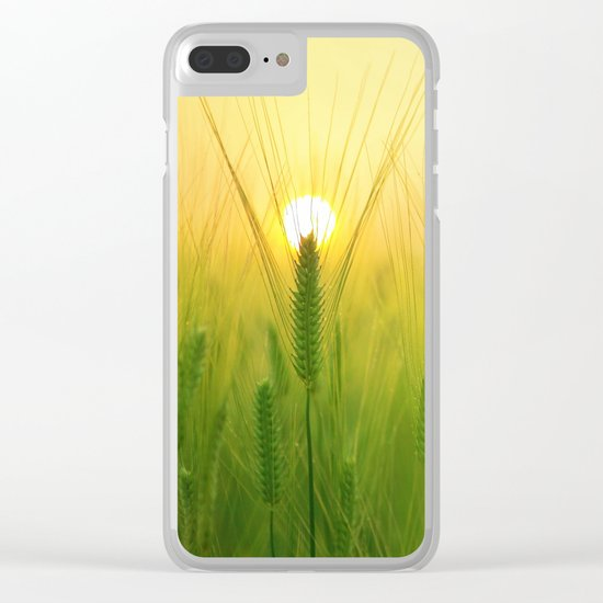 Morning Barley Field Clear iPhone Case