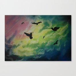 Heaven Of Birds Canvas Print