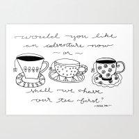 Tea or an Adventure Art Print