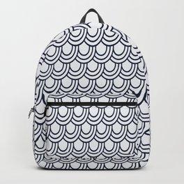 Japanese Wave Seigaiha Seamless Patterns Symbols Backpack