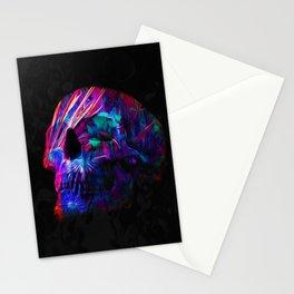 Phantoms vs Fire's Neon Skull Stationery Cards