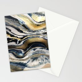 Flowing Geode Blue & Gold Stationery Cards
