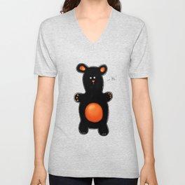 Bear. Art print. Animal. Unisex V-Neck