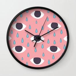 eye tears Wall Clock