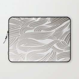 Silver & White Laptop Sleeve