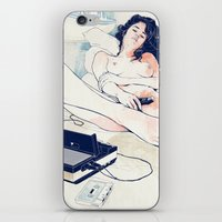 tape iPhone & iPod Skins featuring Nothing to say by Anton Marrast