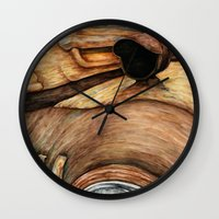 truck Wall Clocks featuring Old Truck by Kirsten Neil